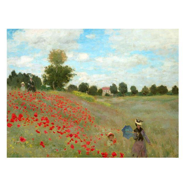 Magnettafel - Claude Monet - Mohnfeld bei Argenteuil - Memoboard Querformat 3:4
