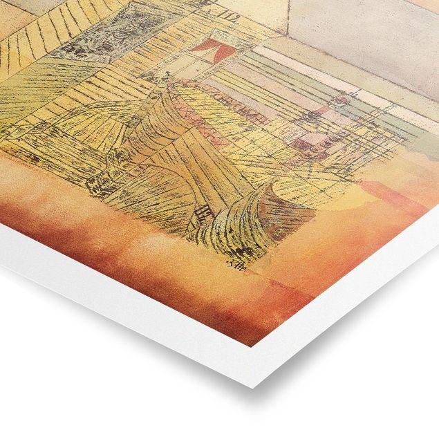 Poster - Paul Klee - Wunderbare Landung - Querformat 3:4