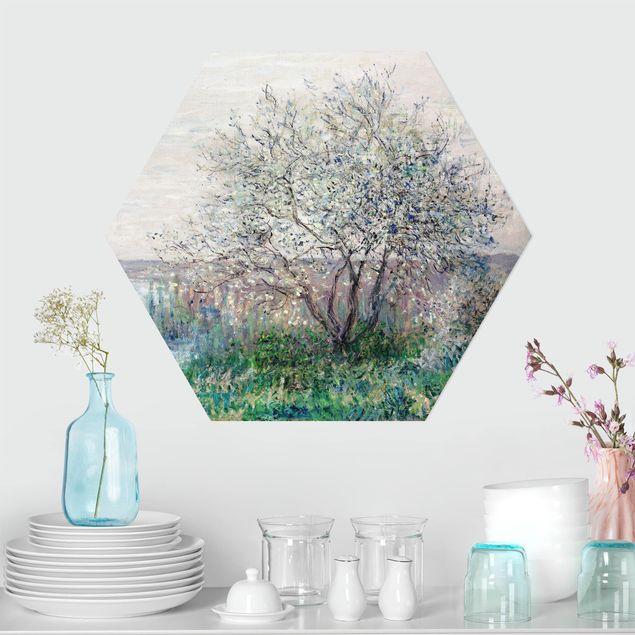 Hexagon Bild Forex - Claude Monet - Frühlingsstimmung