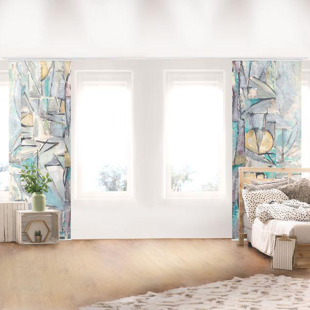 Schiebegardinen Set - Piet Mondrian - Komposition X - Flächenvorhänge