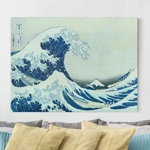 Leinwandbild - Katsushika Hokusai - Die grosse Welle von Kanagawa - Querformat 3:4