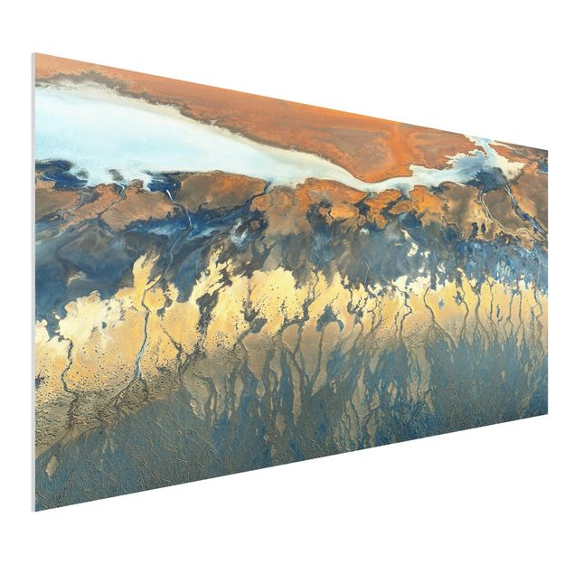 Forex Fine Art Print - Kalifornien aus der Luft - Querformat 1:2