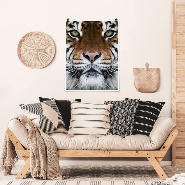 Poster - Tiger Eyes - Hochformat 3:4