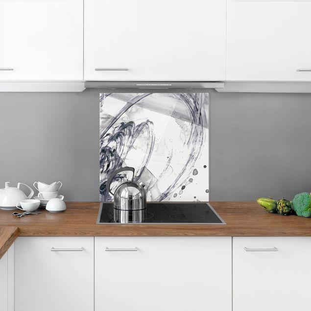 Glas Spritzschutz - Sonar Schwarz Weiß I - Quadrat - 1:1