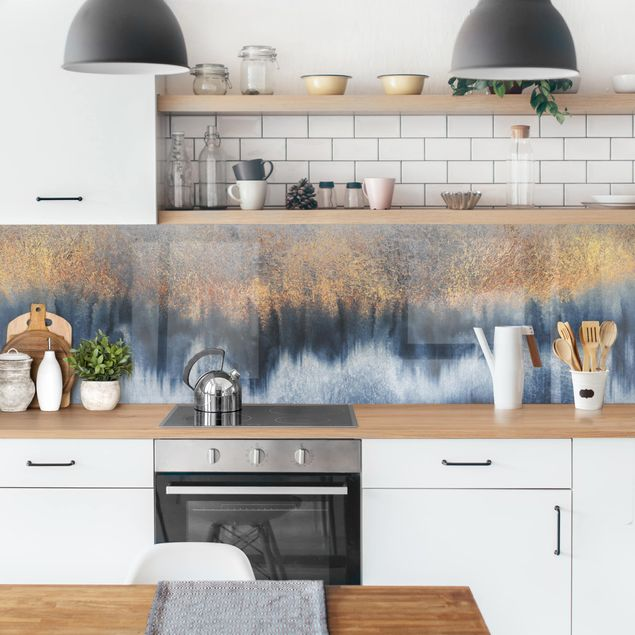Küchenrückwand - Goldener Horizont