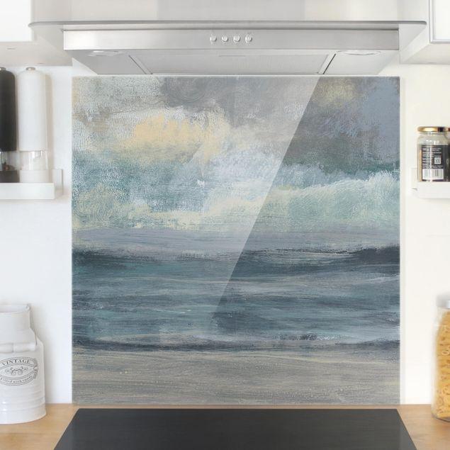 Glas Spritzschutz - Strandaufgang I - Quadrat - 1:1