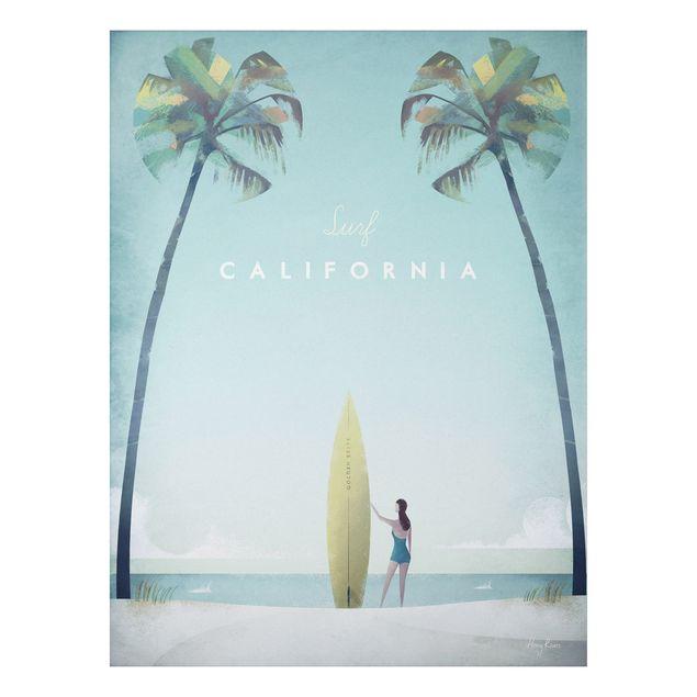 Aluminium Print - Reiseposter - California - Hochformat 4:3