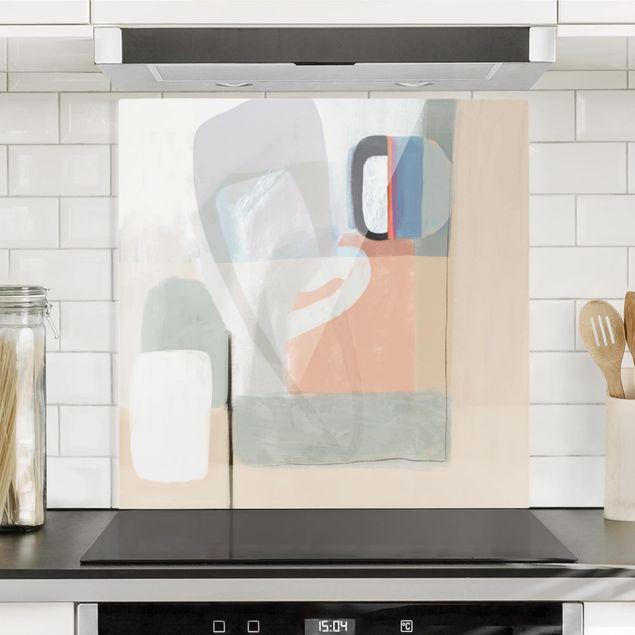 Glas Spritzschutz - Multiform I - Quadrat - 1:1