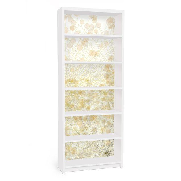 Möbelfolie für IKEA Billy Regal - Klebefolie No.RY6 Blütenregen