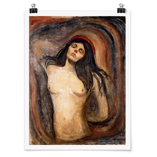 Poster - Edvard Munch - Madonna - Hochformat 3:4