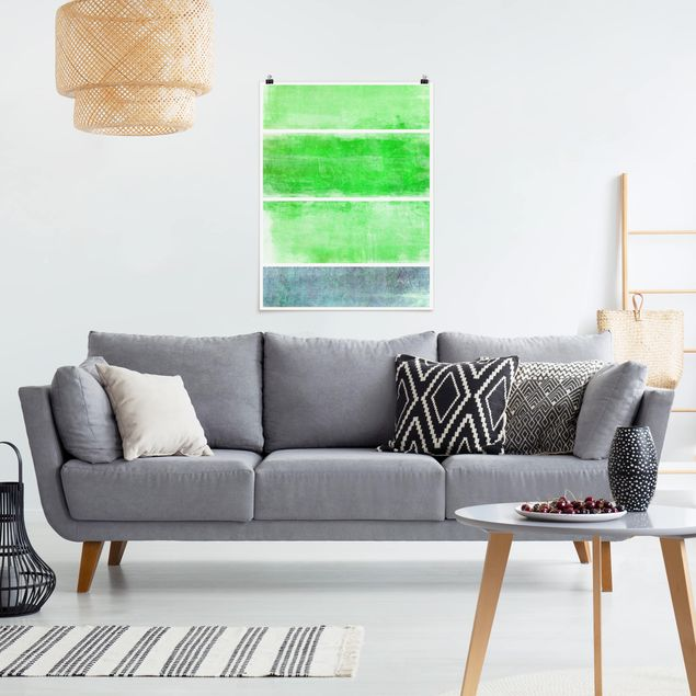 Poster - Colour Harmony Green - Hochformat 3:4