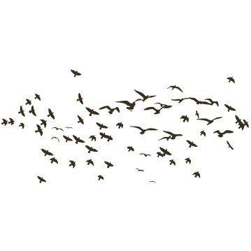 Wandtattoo Vögel No.KP21 Vogelschwarm I