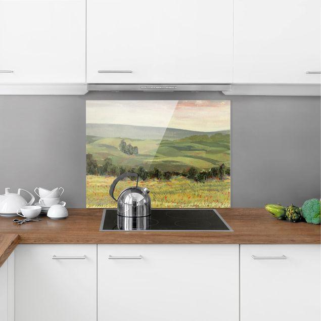 Glas Spritzschutz - Wiese am Morgen II - Querformat - 4:3