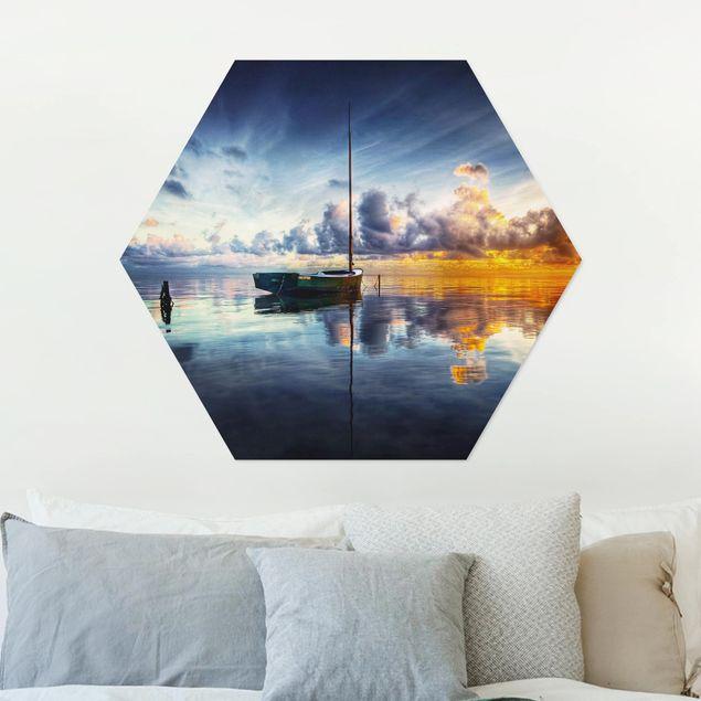Hexagon Bild Alu-Dibond - Time For Reflection