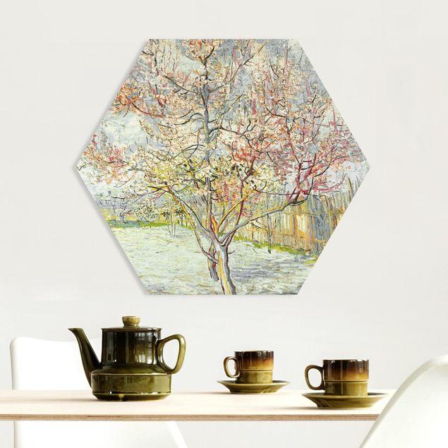 Hexagon Bild Forex - Vincent van Gogh - Blühende Pfirsichbäume
