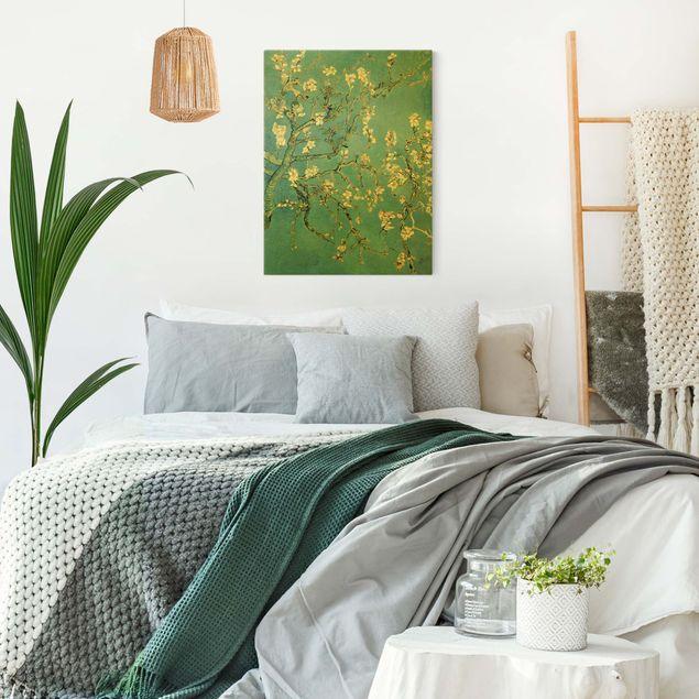 Leinwandbild Gold - Vincent van Gogh - Mandelblüte - Hochformat 3:4