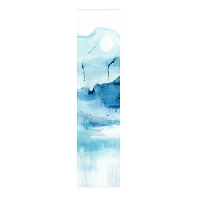 Schiebegardinen Set - Blaue Strömung I - Flächenvorhang