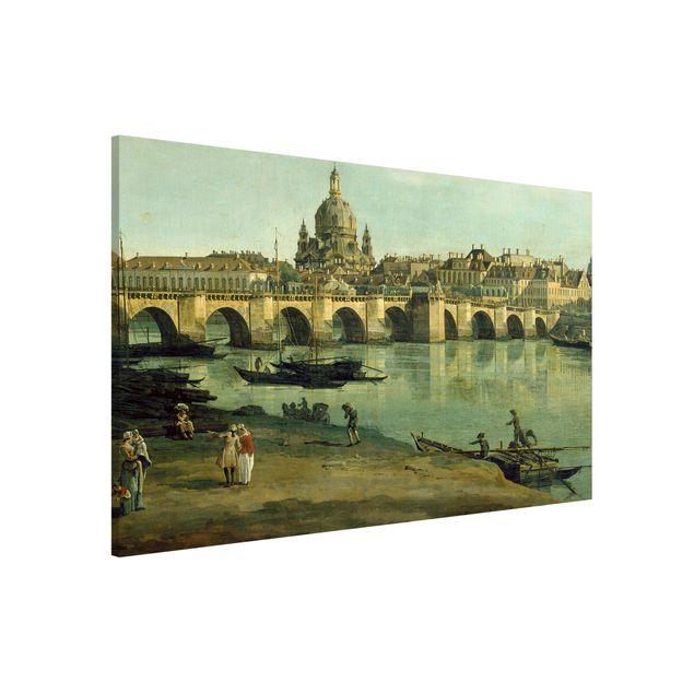 Magnettafel - Bernardo Bellotto - Dresden vom rechten Elbufer - Memoboard Querformat 2:3