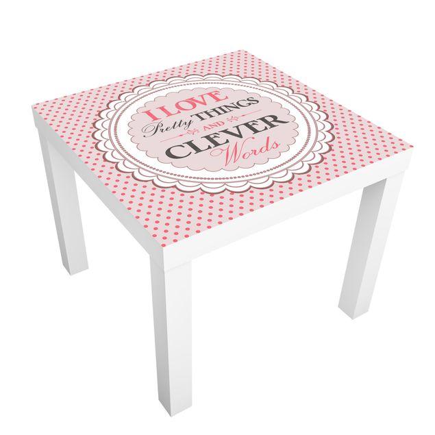Möbelfolie für IKEA Lack - Klebefolie No.KA17 I Love Pretty Things