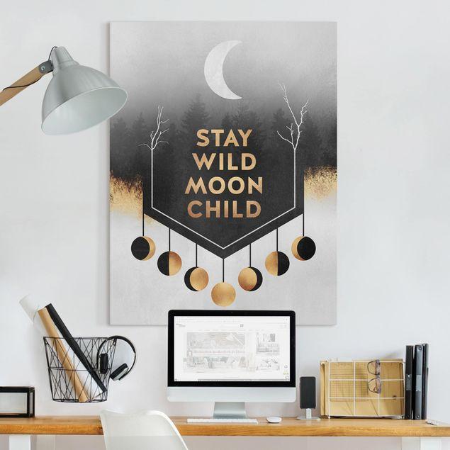 Leinwandbild - Stay Wild Moon Child - Hochformat 4:3