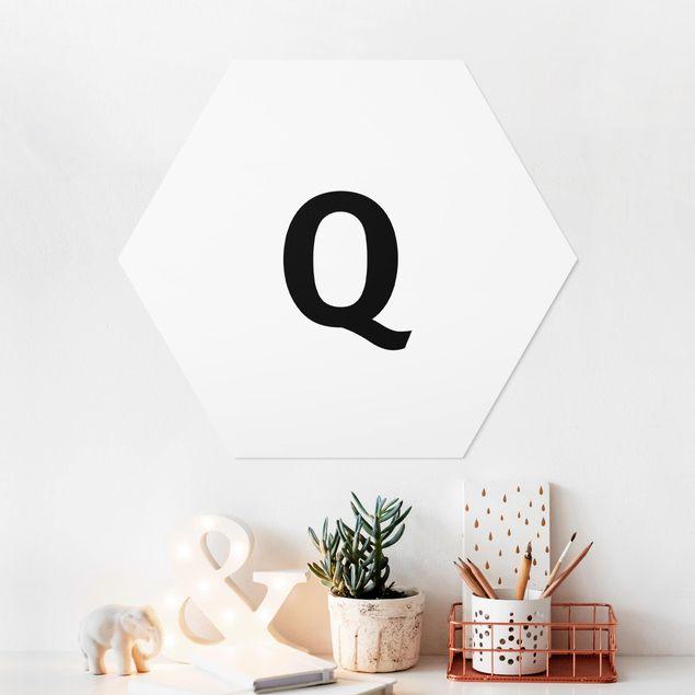 Hexagon Bild Forex - Buchstabe Weiß Q