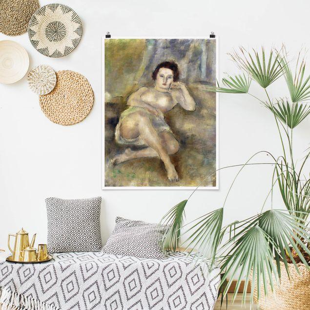 Poster - Jules Pascin - Liegende junge Frau - Hochformat 3:4