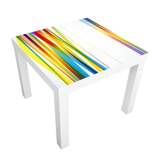 Möbelfolie für IKEA Lack - Klebefolie Rainbow Stripes