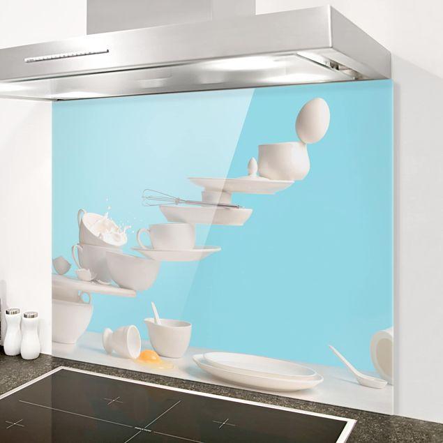 Glas Spritzschutz - Teller Kunst - Querformat - 4:3