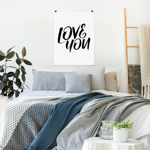 Poster - Love You - Hochformat 3:4