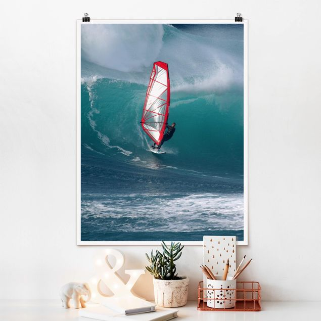 Poster - The Surfer - Hochformat 3:4