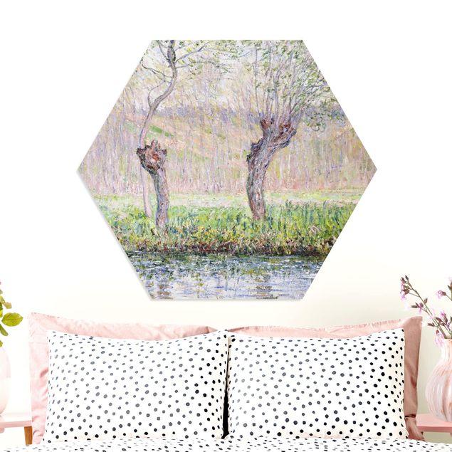 Hexagon Bild Forex - Claude Monet - Weidenbäume Frühling