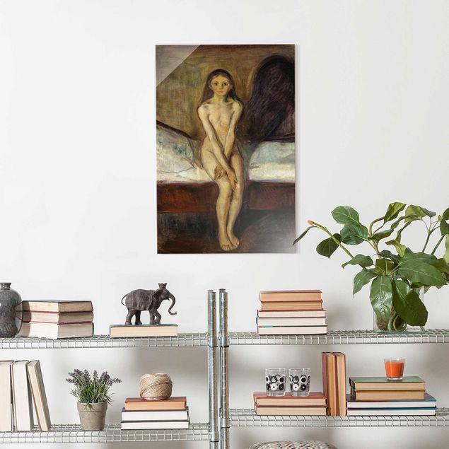 Glasbild - Edvard Munch - Pubertät - Hochformat 3:2
