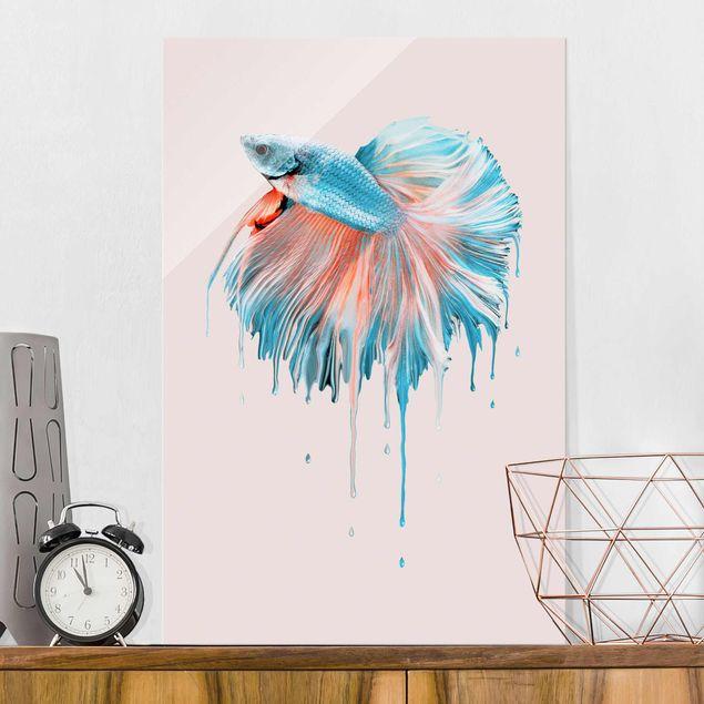 Glasbild - Jonas Loose - Schmelzender Fisch - Hochformat 3:2