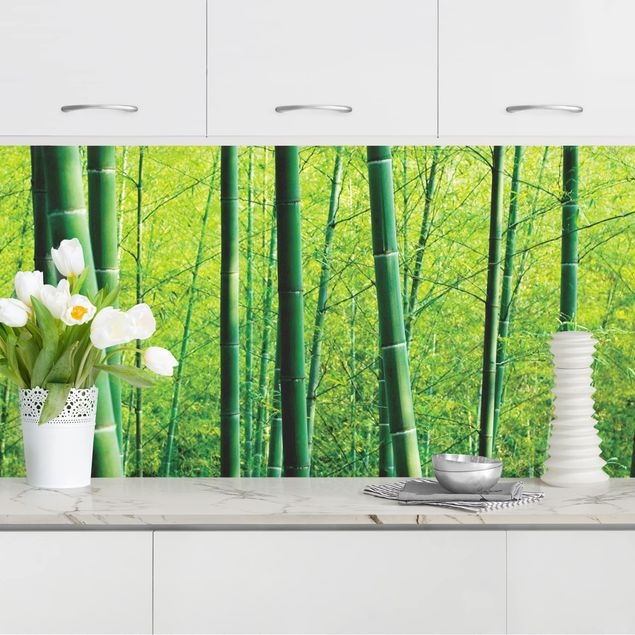 Küchenrückwand - Bambuswald