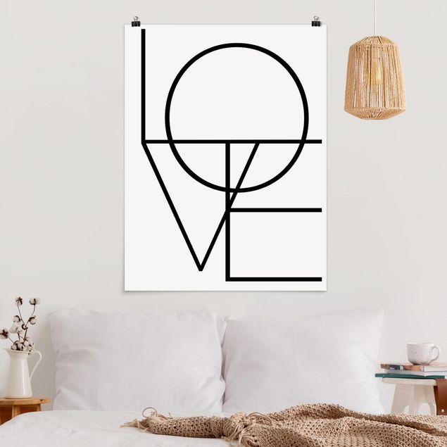 Poster - L O V E - Hochformat 3:4