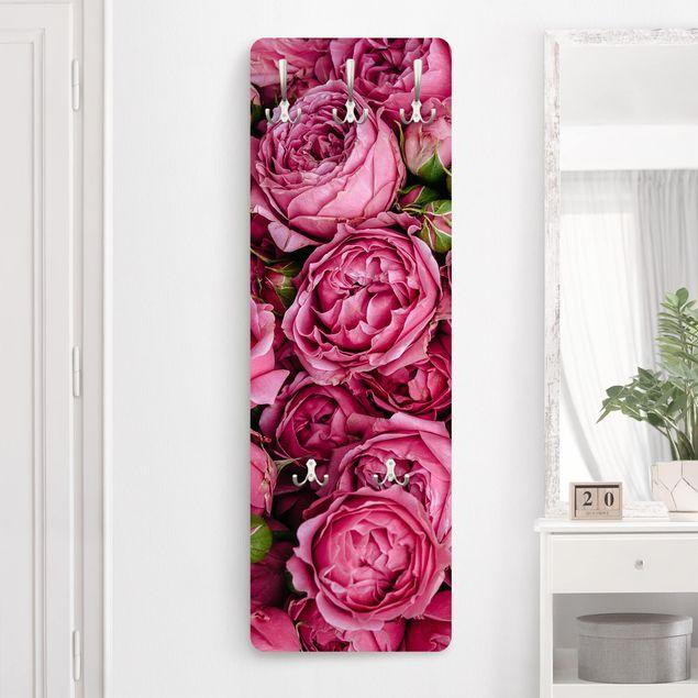 Garderobe - Pinke Pfingstrosen
