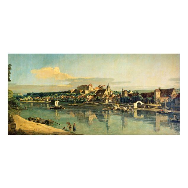 Magnettafel - Bernardo Bellotto - Blick auf Pirna - Memoboard Panorama Querformat 1:2