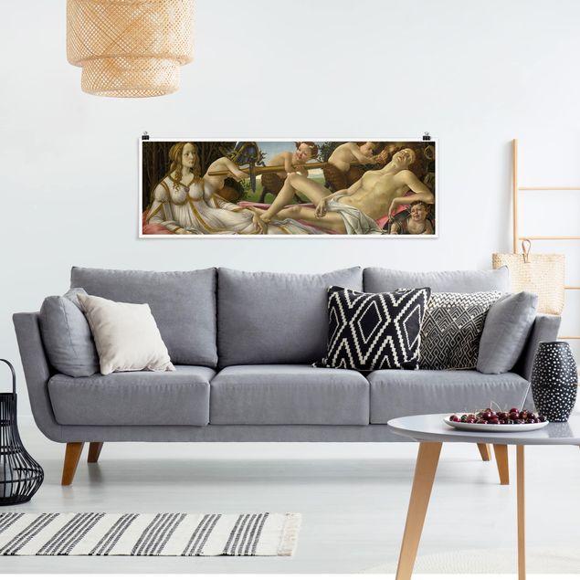 Poster - Sandro Botticelli - Venus und Mars - Panorama Querformat