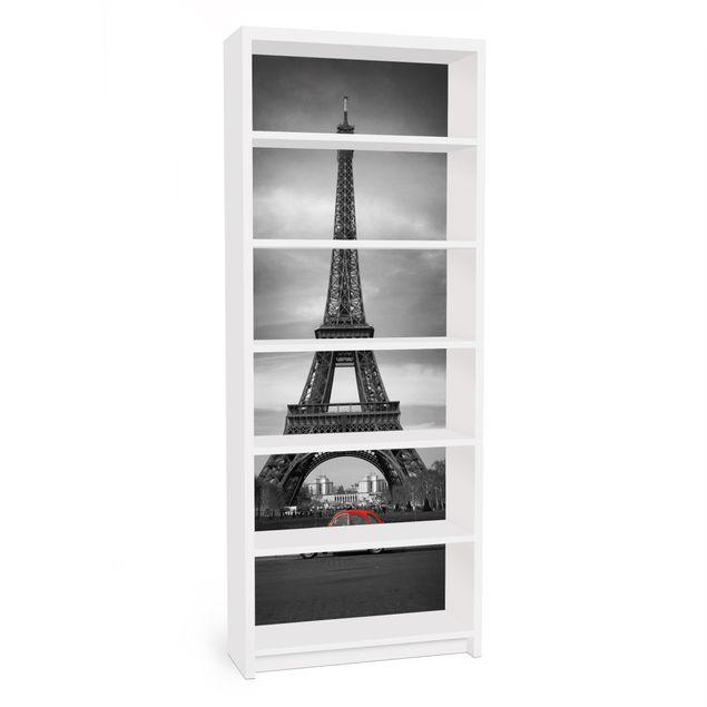 Möbelfolie für IKEA Billy Regal - Klebefolie Spot on Paris