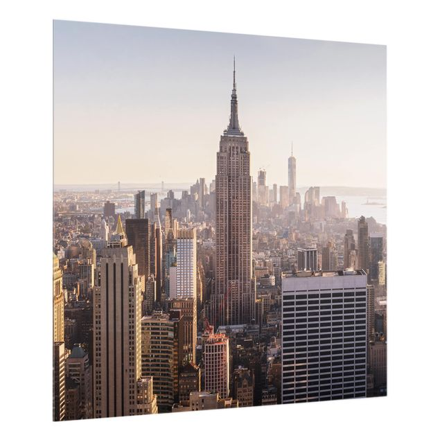 Glas Spritzschutz - Blick vom Top of the Rock - Quadrat - 1:1