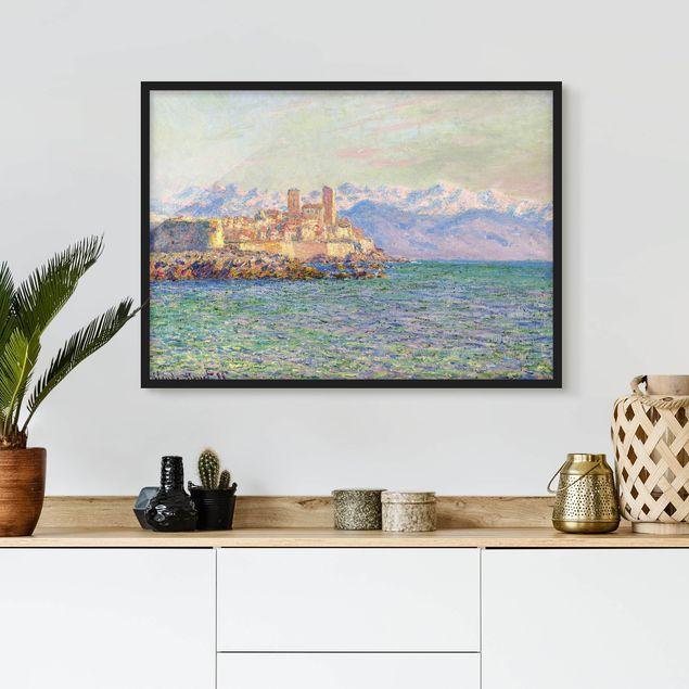 Bild mit Rahmen - Claude Monet - Antibes-Le Fort - Querformat 3:4