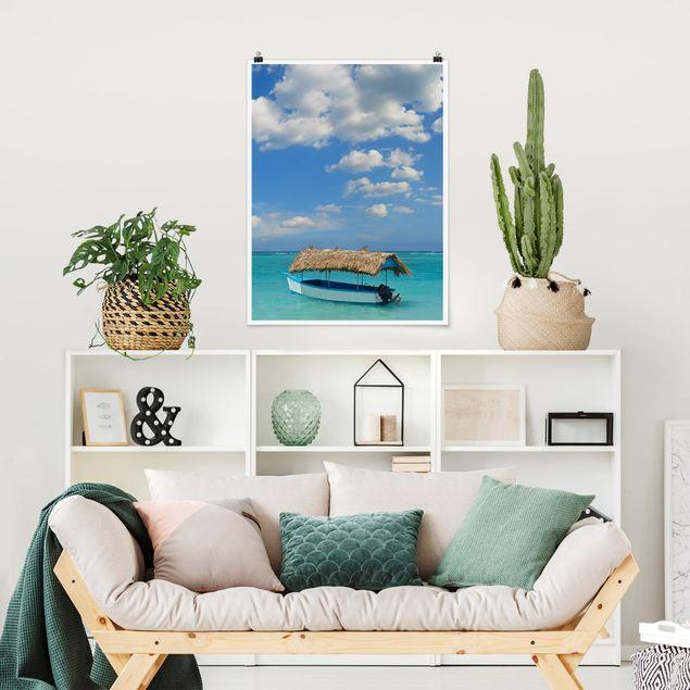 Poster - Tropischer Strand - Hochformat 3:4