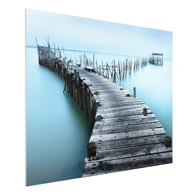 Forex Fine Art Print - Der Hafen von Carrasqueira - Querformat 3:4