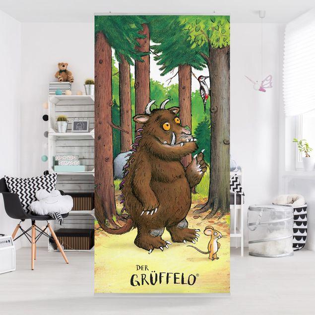 Raumteiler Kinderzimmer - Grüffelo - Waldspaziergang 250x120cm