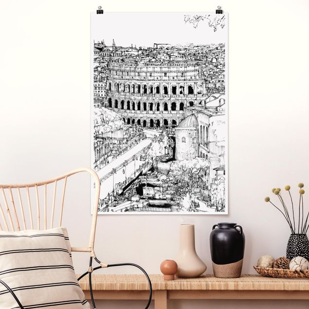 Poster - Stadtstudie - Rom - Hochformat 3:2