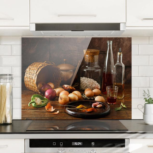 Glas Spritzschutz - Düfte beim Kochen - Querformat - 4:3