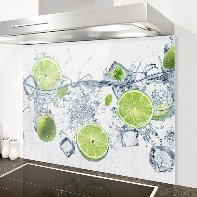 Glas Spritzschutz - Erfrischende Limette - Querformat - 4:3