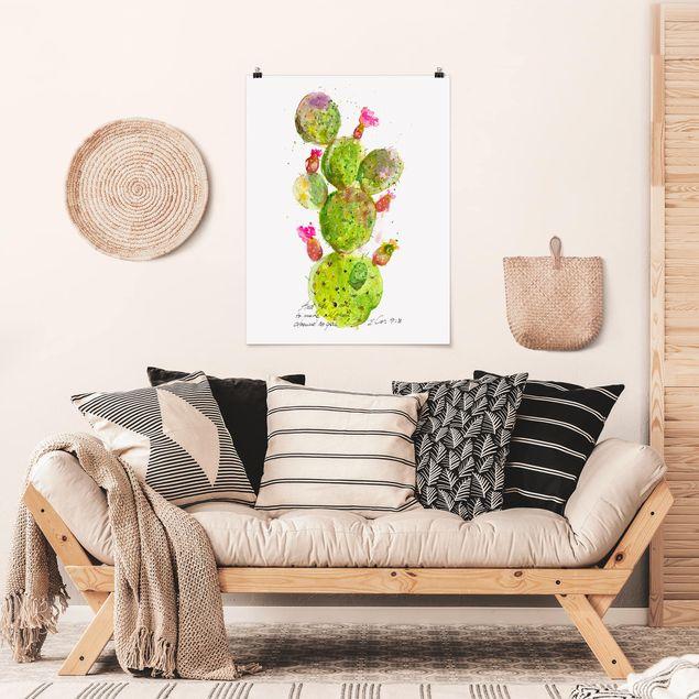 Poster - Kaktus mit Bibellvers III - Hochformat 3:4