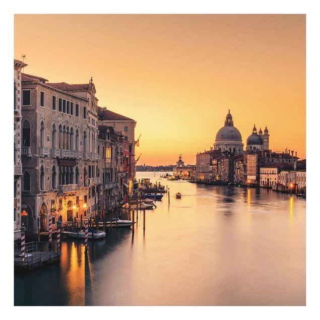 Forex Fine Art Print - Goldenes Venedig - Quadrat 1:1