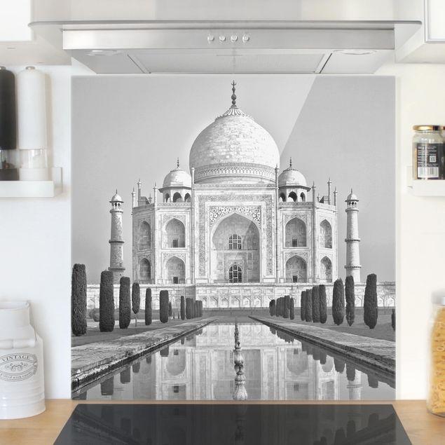 Glas Spritzschutz - Taj Mahal mit Garten - Quadrat - 1:1